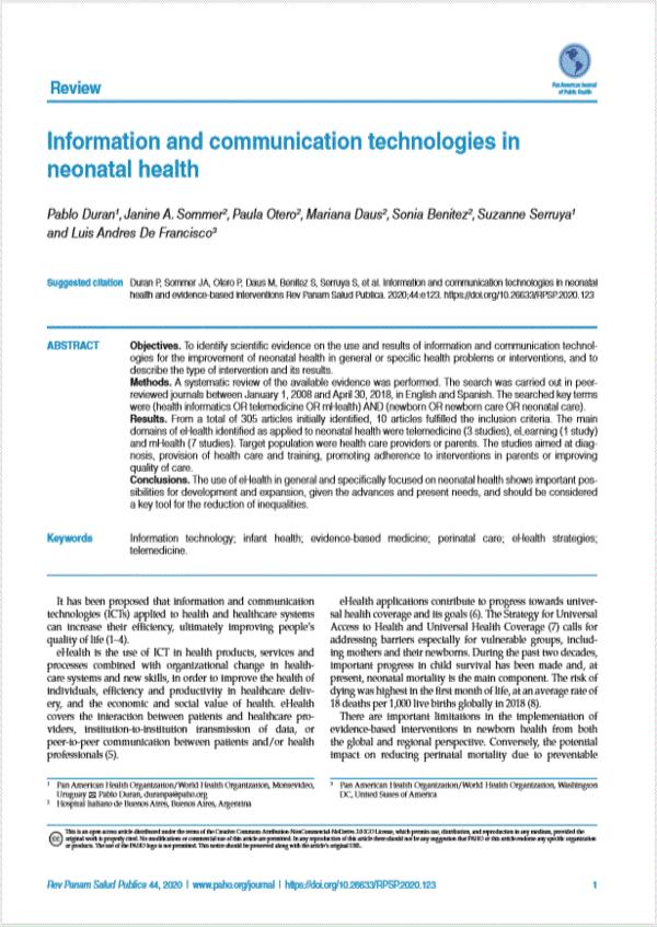 TIC neonatal health